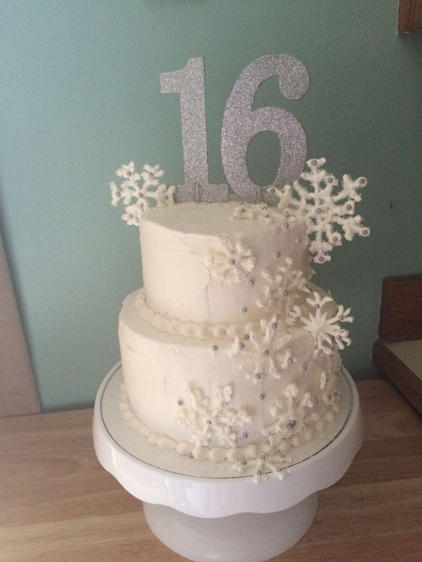 Winter Sweet Sixteen Cake