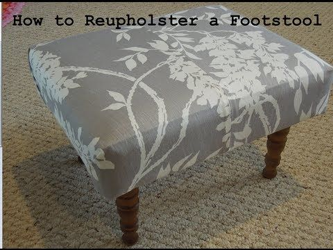 Diy How To Reupholster A Foot Stool From The Thrift Store Youtube Pallet Furniture Bedroom Vintage Furniture Makeover Repurposed Furniture Diy