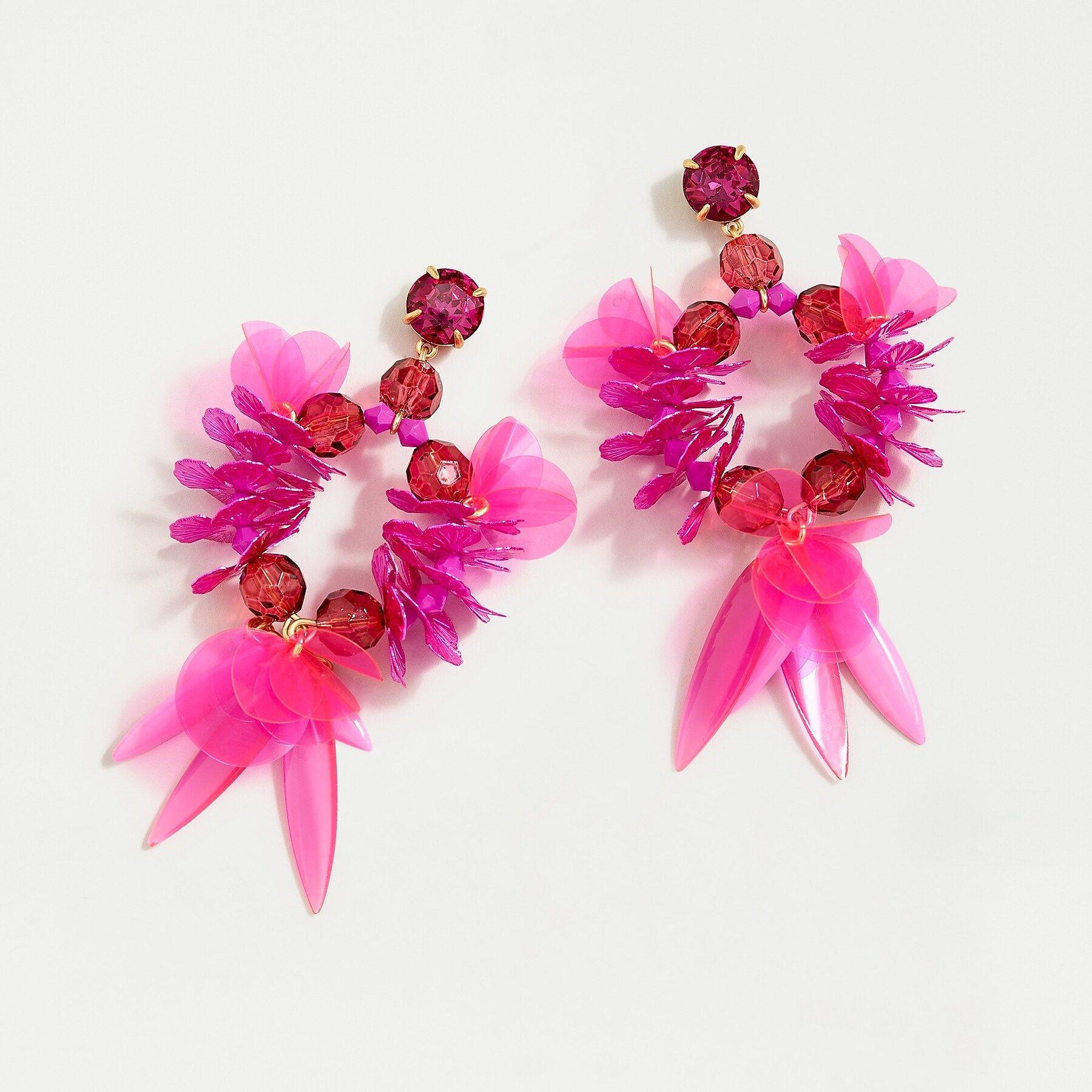 J Crew Bird Of Paradise Statement Earrings In 2020 Statement Earrings Women Jewelry Acrylic Beads