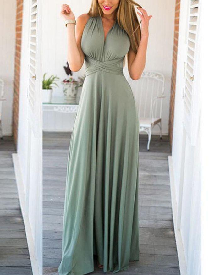 3b4740d1164 convertible sage bridesmaid dress