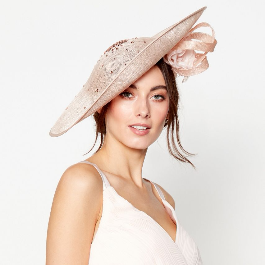 1 Jenny Packham - Light pink scattered diamante saucer fascinator. Click on  picture to view up to date price and also view over 100 other fascinators  and ... 2c9415c97510