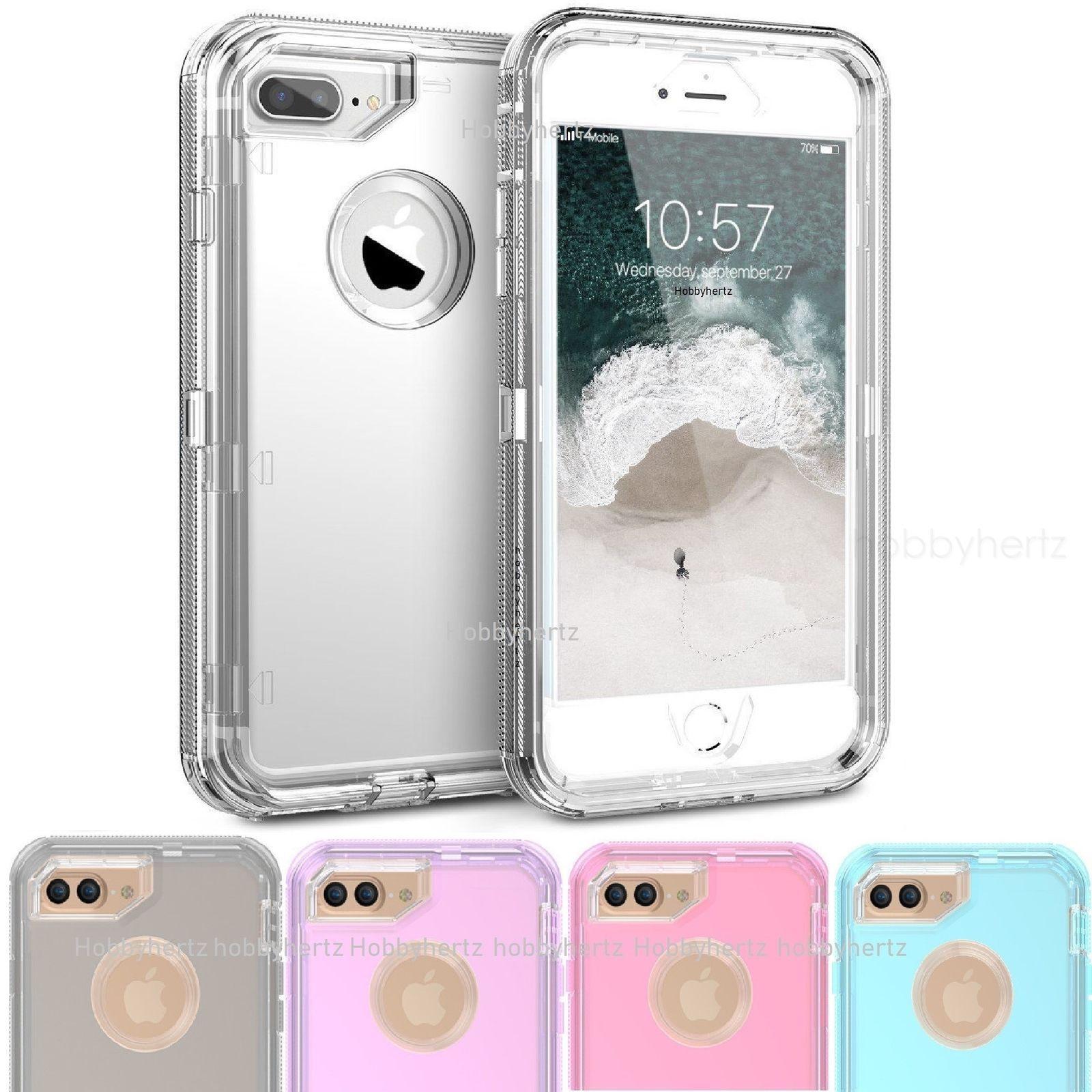 Clear defender transparent case for iphone xr xs 8 7