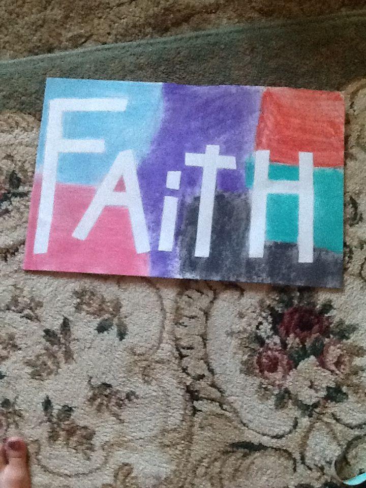 I made a faith banner for faith camp