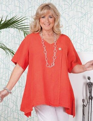 Plus size Tipton orange top