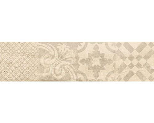 Feinsteinzeug dekorfliese slab beige 15x60 cm bei hornbach kaufen