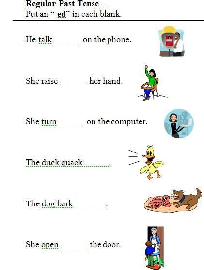 Verbs And Verb Tense Past Tense Worksheet Tenses Worksheet Regular Past Tense Verbs 3rd grade verb tense worksheets