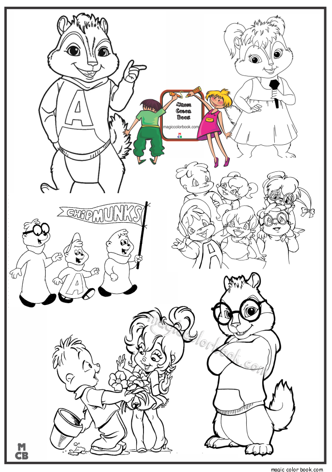 magic alvin chipmunks coloring pages - Alvin And The Chipmunks Pictures To Colour