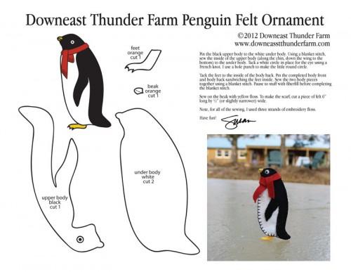 Penguin Ornament Pattern #animauxentissu