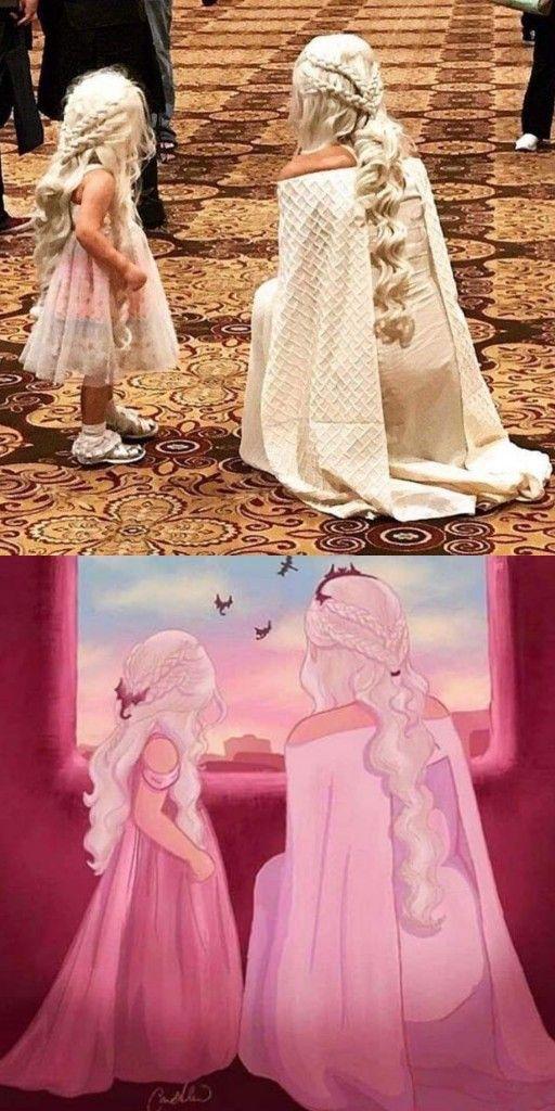 Daenerys targaryen and her daughter #gameofthrones
