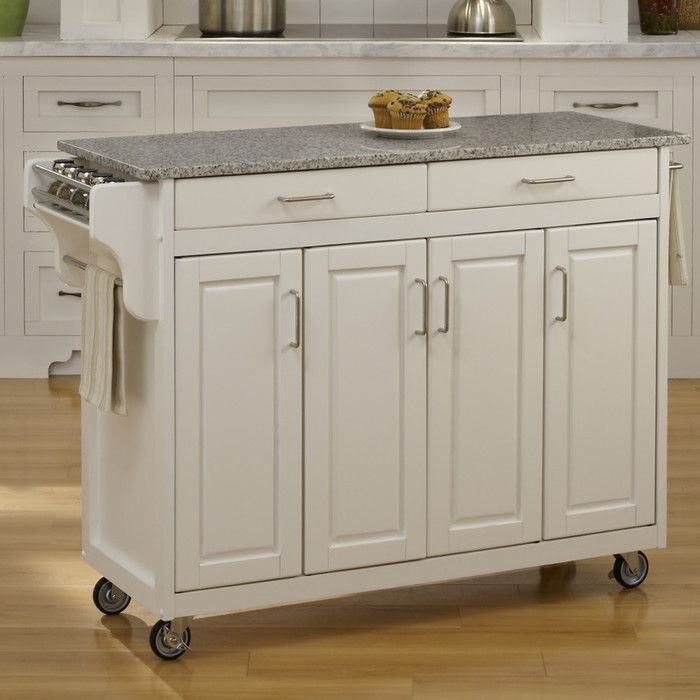 Home Styles Create-a-Cart Kitchen Island with Granite Top & Reviews | Wayfair