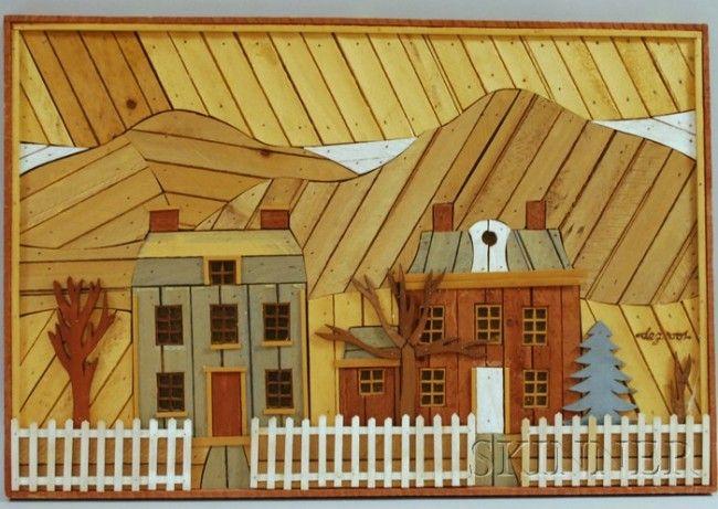 lathe wall art | 1200: Theodore Degroot Wooden Lath Art Wall Hanging ...