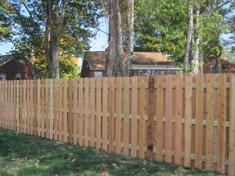 6u0027 Cedar Dog Ear Shadowbox Privacy Fence
