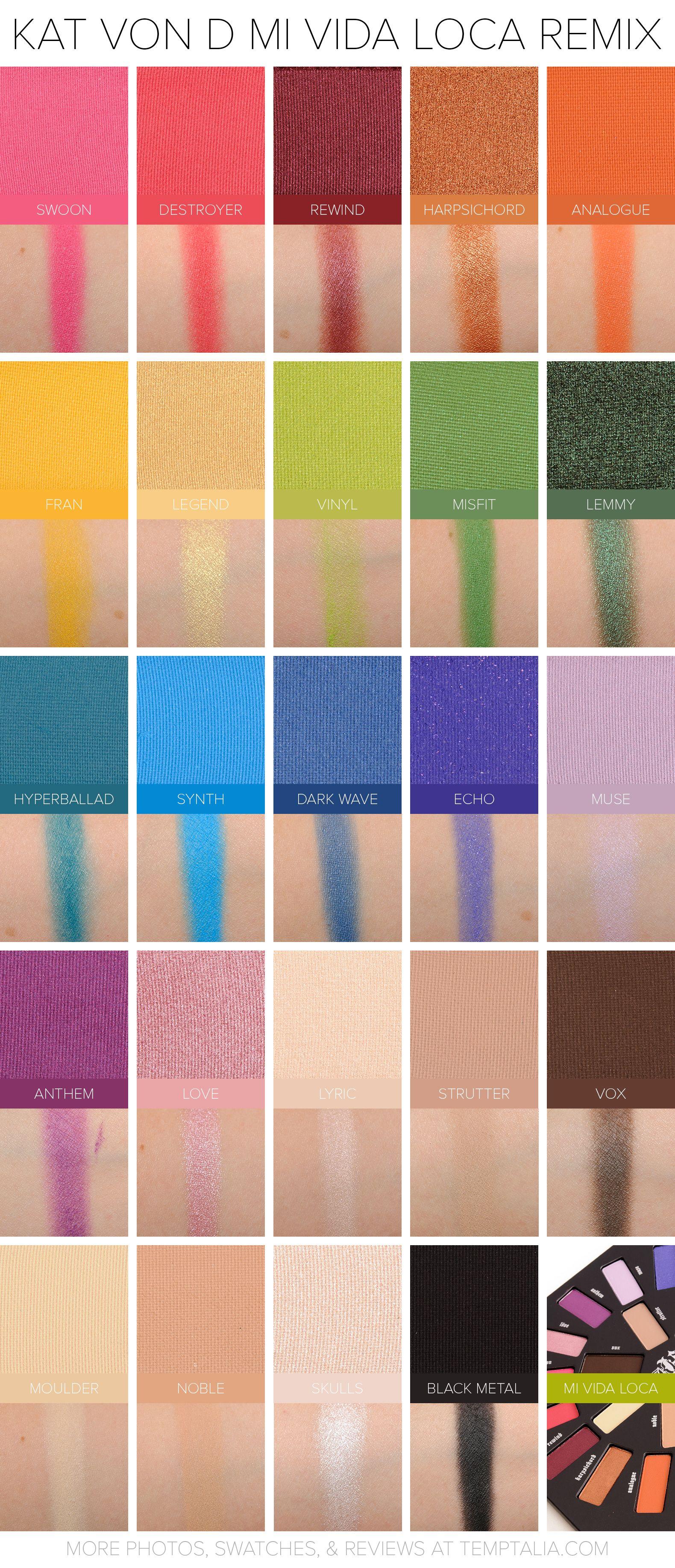 Sneak Peek Kat Von D Mi Vida Loca Remix Palette Photos Swatches