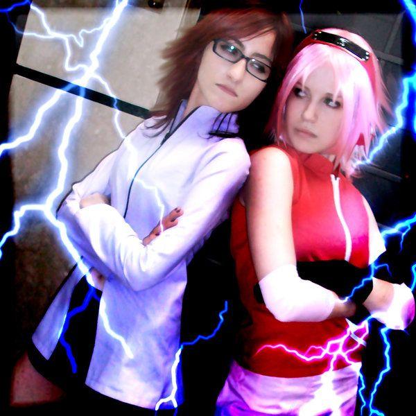 Karin and Sakura cosplay