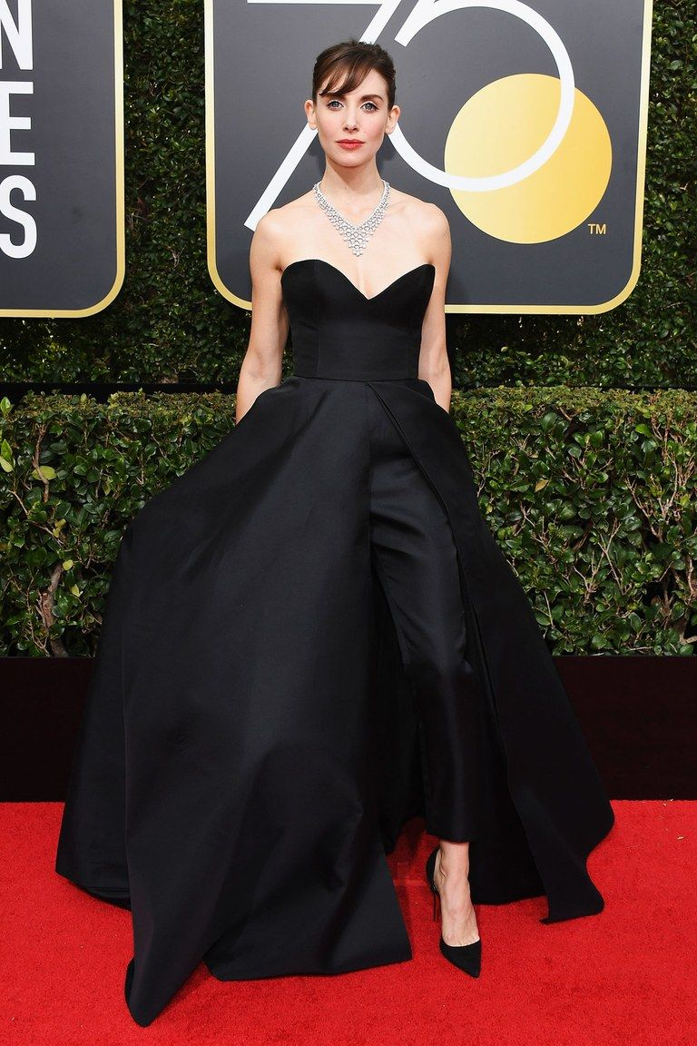 Roter Teppich Golden Globes Alison Brie In Vassilis Zoulias At The 2018 Golden Globe Awards