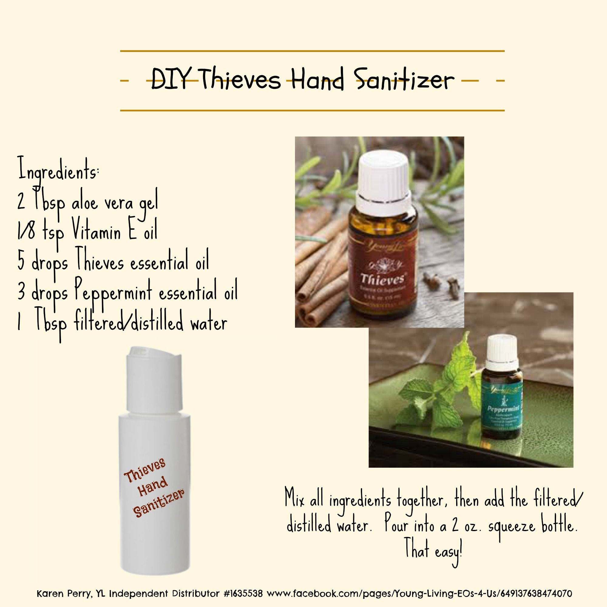 Diy Thieves Hand Sanitizer For More Information On How You Can Use