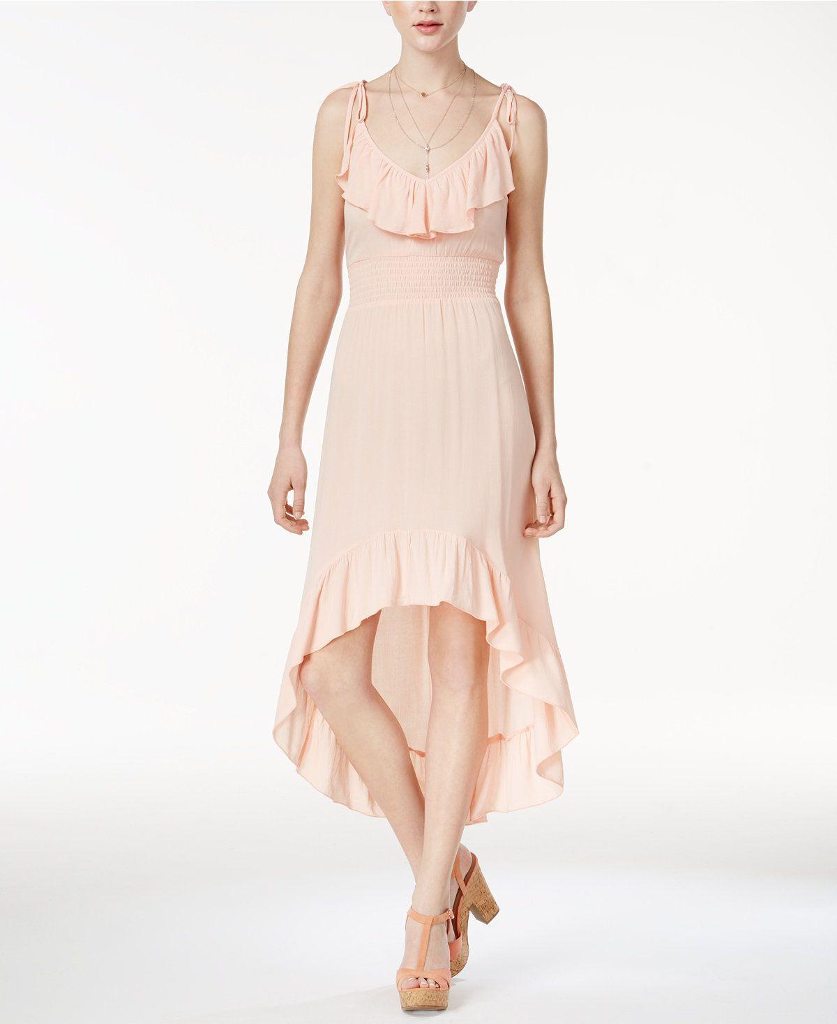American rag juniorsu ruffled highlow dress created for macyus