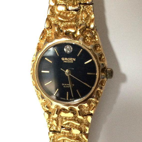 d4a538f2b Gruen Precision Diamond Quartz Ladies Watch by pascalvintage, $88.00 ...