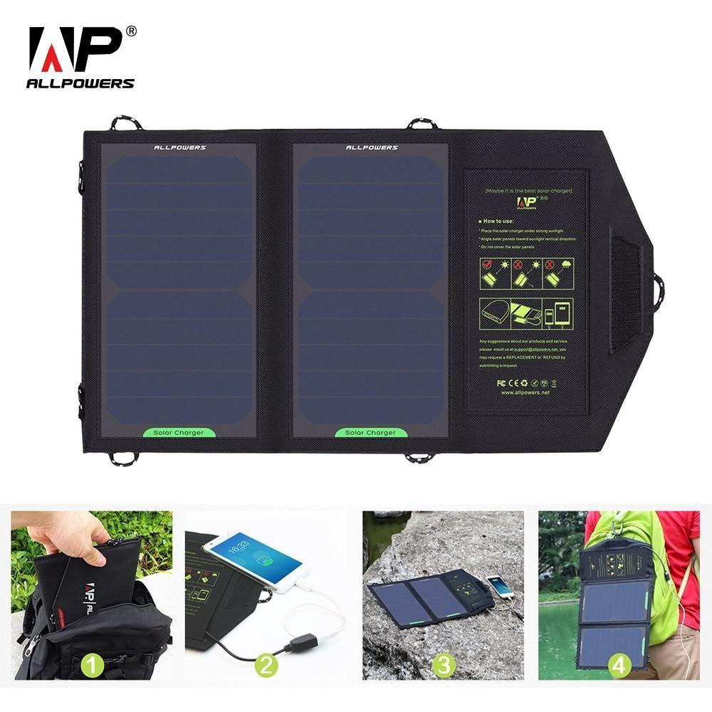 All Powers Solar Panel 10w 5v Portable Solar Battery Chargers In 2020 Solar Panel Charger Solar Battery Charger Solar Charger Portable