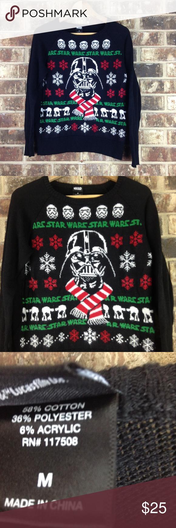 Star Wars Womens Ugly Christmas Crew Sweatshirt