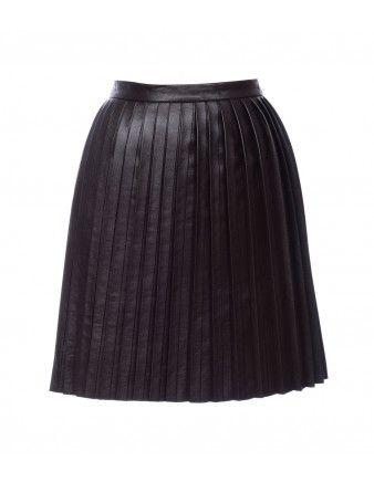 Candela Pleated Leather Skirt - Shop more flirty skirts at ShopBazaar.com http://shop.harpersbazaar.com/trends/must-haves
