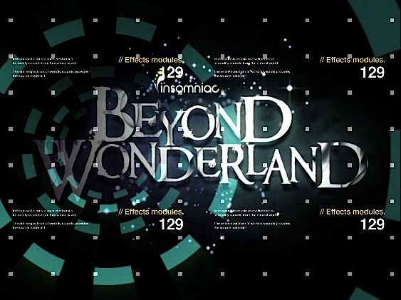 Screengrabs of live visuals for Beyond Wonderland/ Insomniac