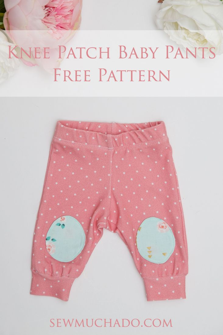Knee Patch Baby Pants Free Pattern With The Cricut Maker