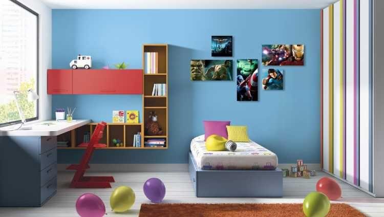 encuentra este pin y muchos ms en decoracin infantiles de nolfar resultado de imagen para dormitorios nios cuadros de superheroes