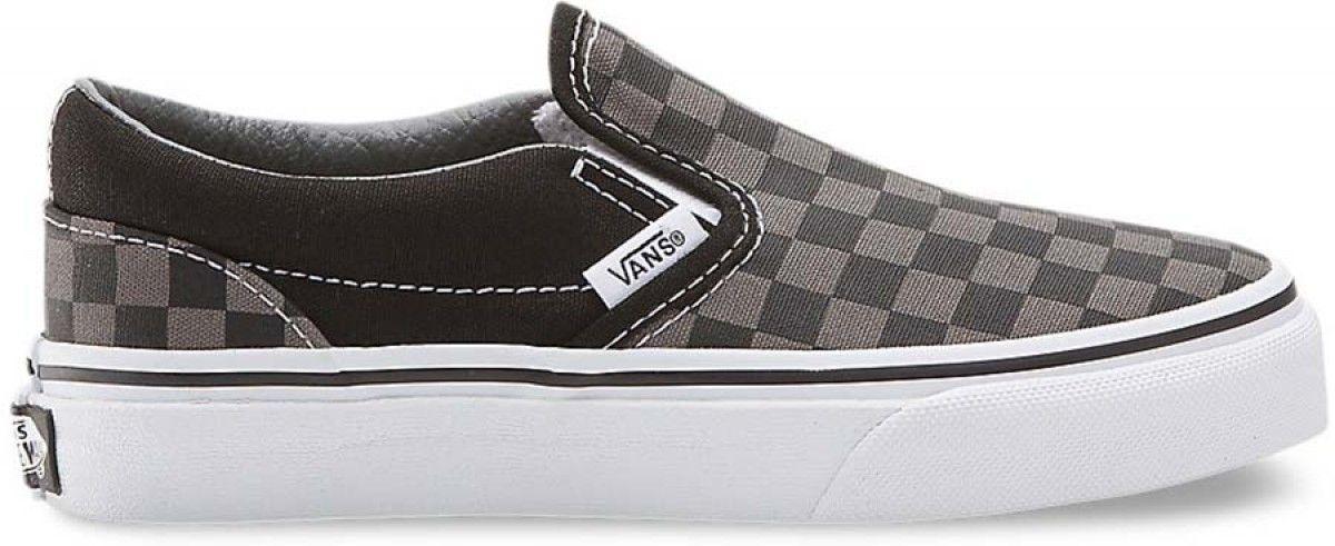 Vans Kids Classic Slip On (Checker) BlackPewter | Vans