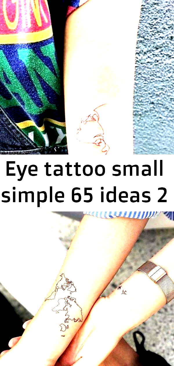 Photo of Eye Tattoo Small Simple 65 Ideas #tattoo #eye World map Temporary Tattoo / Airpl …