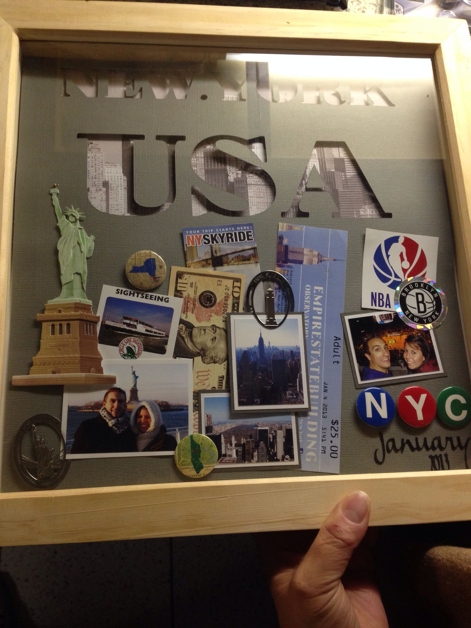 New York Shadow Box My Clever Moomin Shadow Box Travel Shadow Boxes Souvenir Display