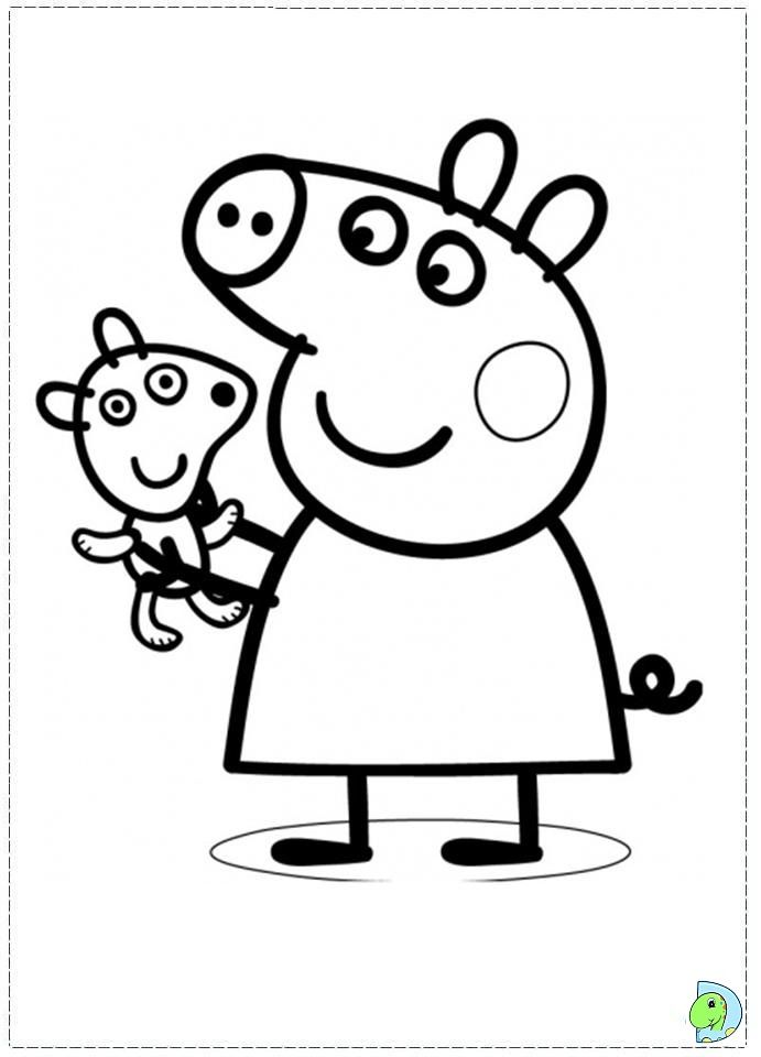 Cartoon Pig Coloring Page