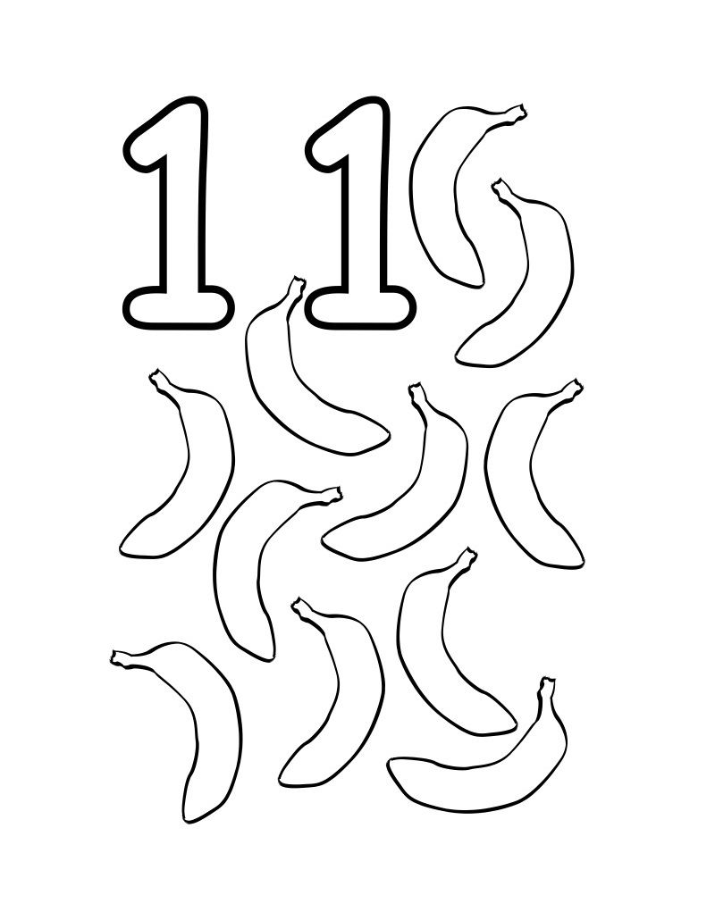 Uncategorized Number 11 Coloring Page number coloring pages the 11 miscellaneous 11