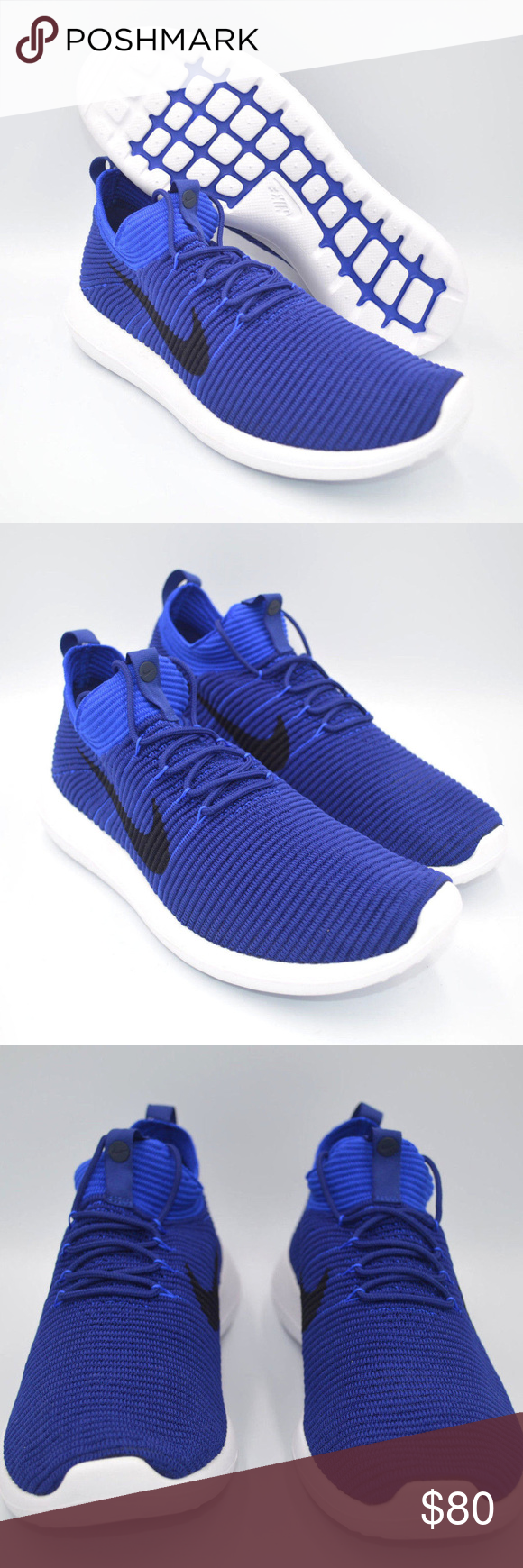 2f77ef5ff5f Nike Roshe Two Flyknit V2 Royal Blue Mens Shoes Size  Multi-Size Color  Deep  Royal   Obsidian-Racer Blue Style    918263-400 Condition  New with Box.