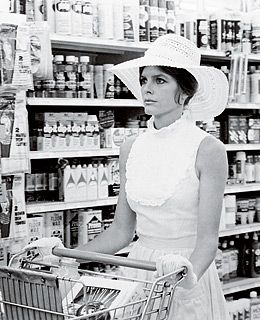 "The Stepford Wives 1975…Katherine Ross:  ""There'll be somebody with my name and she'll cook and clean like crazy, but she won't take pictures and she won't be me. She'll be like one of those robots in Disneyland."" #classy #iralevin"