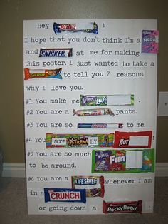 candy letters for anniversary 6 month   Google Search | Boyfriend