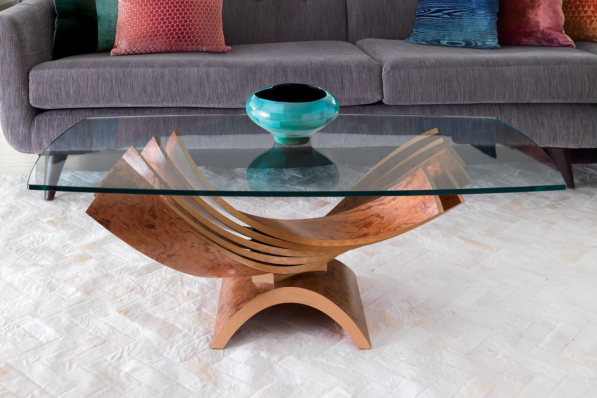 Spiral Cocktail Table By Blaise Gaston Five Elegant Wooden Curves