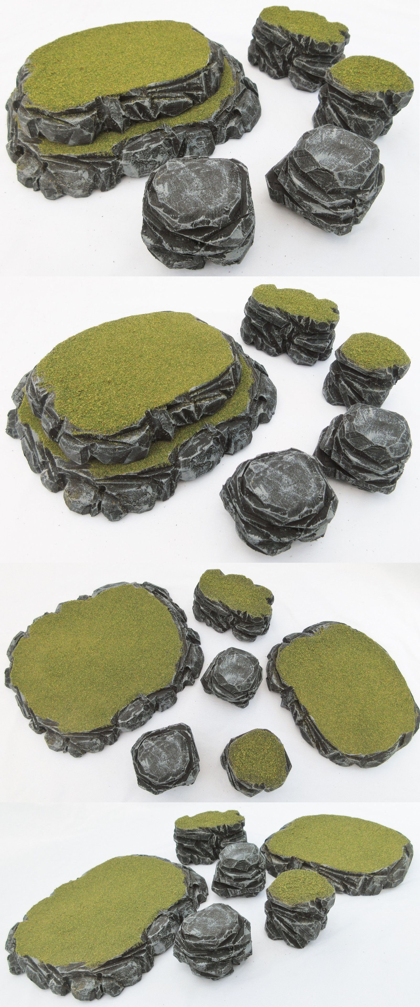40K Terrain and Scenery 152940: Warhammer 40K Tabletop Wargaming Terrain Scenery Grey Stone Plateau And Rocks Seta -> BUY IT NOW ONLY: $30.76 on eBay! #wargamingterrain