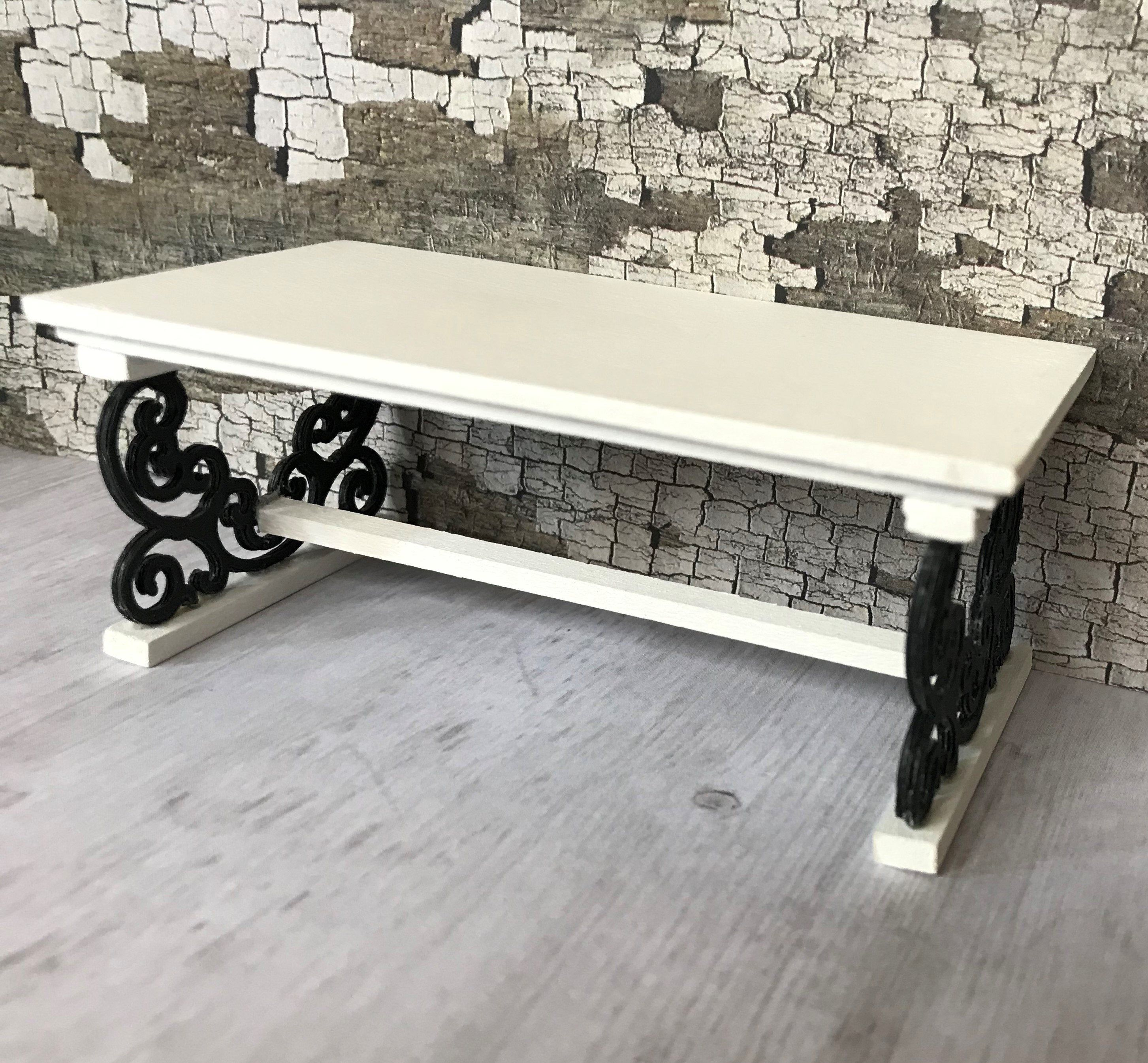 Miniature Coffee Table Modern Coffee Table Black And White Etsy Miniature Furniture Modern Coffee Tables Dollhouse Furniture [ 2690 x 2906 Pixel ]