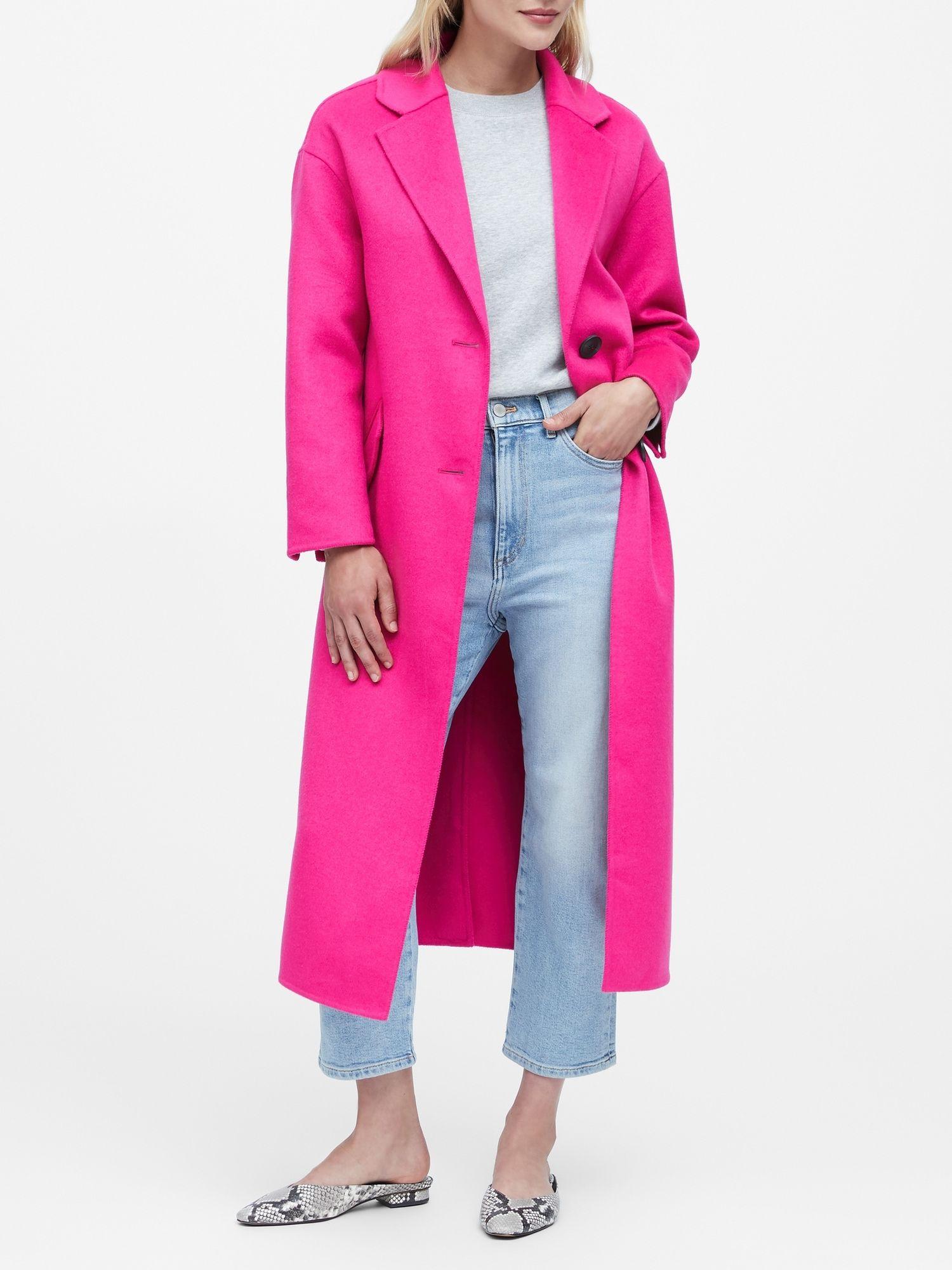 Japan Exclusive Double Faced Unlined Coat Banana Republic Coat Hot Sweater Pink Wool Coat [ 2000 x 1500 Pixel ]