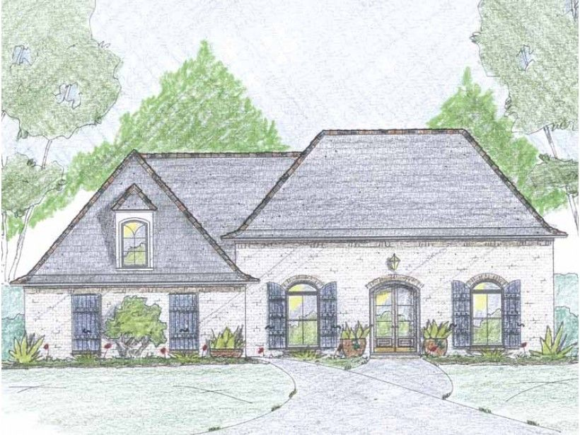 build your ideal home with this french country house plan with 3 bedroomss - 1 Story French Country House Plans