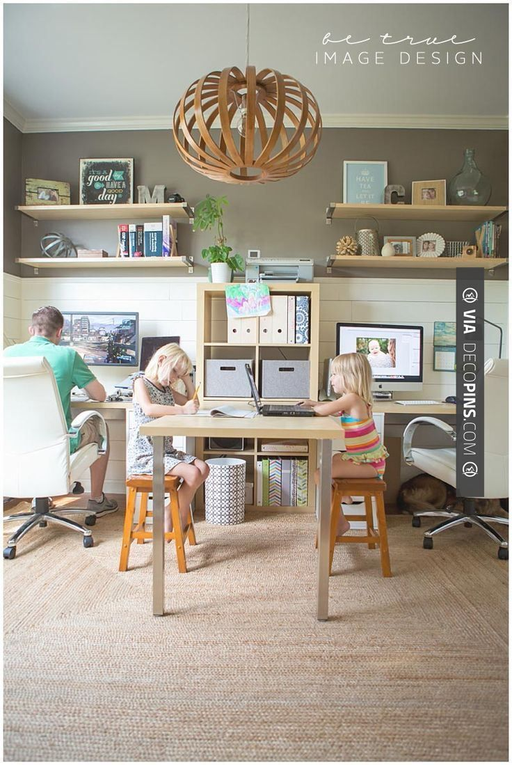 Sweet  Family Home Office  Home Of Be True Image Design Impressive Home Office In Living Room Design Inspiration