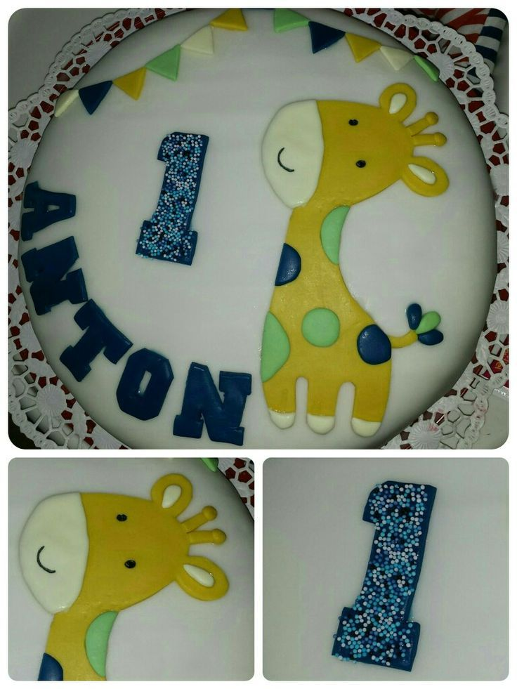 Happy Birthday Torte 1 Geburtstag Torte Junge Giraffe