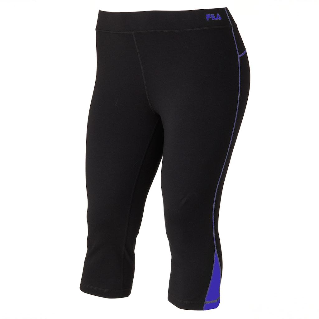 3d524e4818833 Plus Size FILA Sport® Colorblock Active Capri Yoga Leggings, Drk Purple