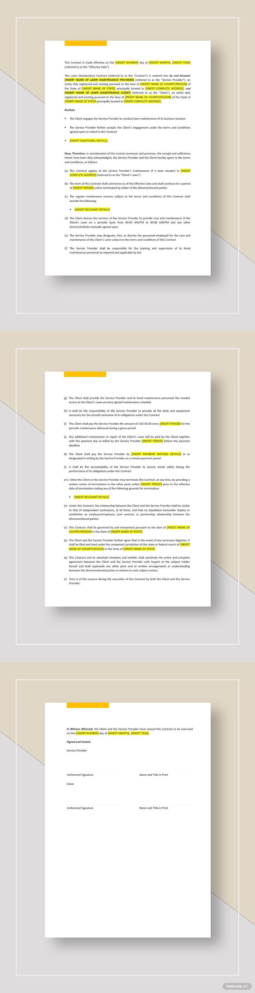 Lawn Maintenance Contract Template Ad Ad Maintenance Lawn Template Contract Lawn Maintenance Contract Template Lawn Care Business