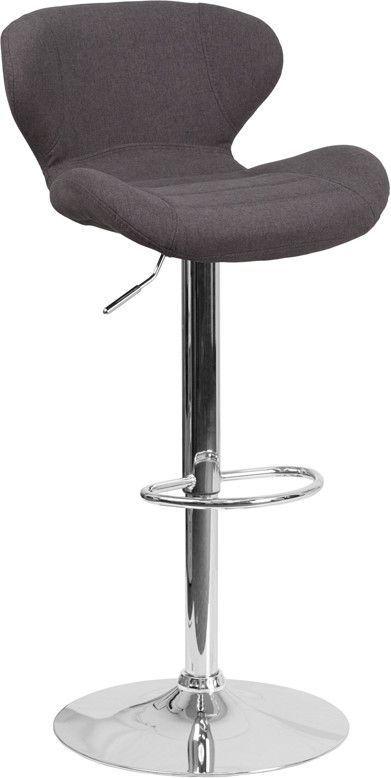 Black Adjustable Barstool