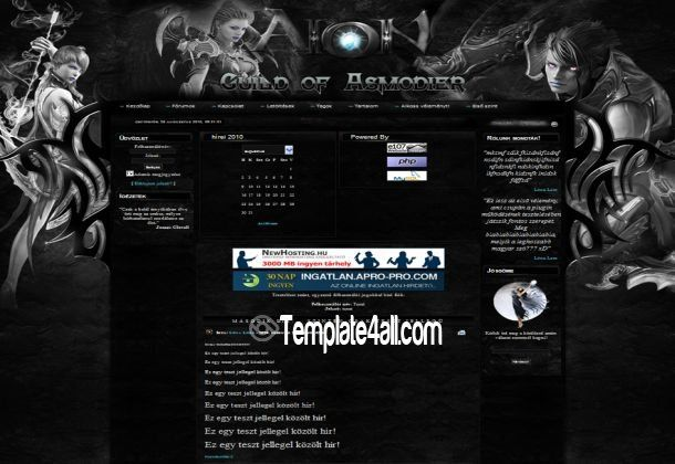 E107 Themes - Aion Games E107 Template Design #e107 #aion #games