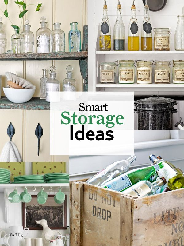 39 Ways to Sneak Storage Into Your Home | Landhaus küche, Diy wohnen ...