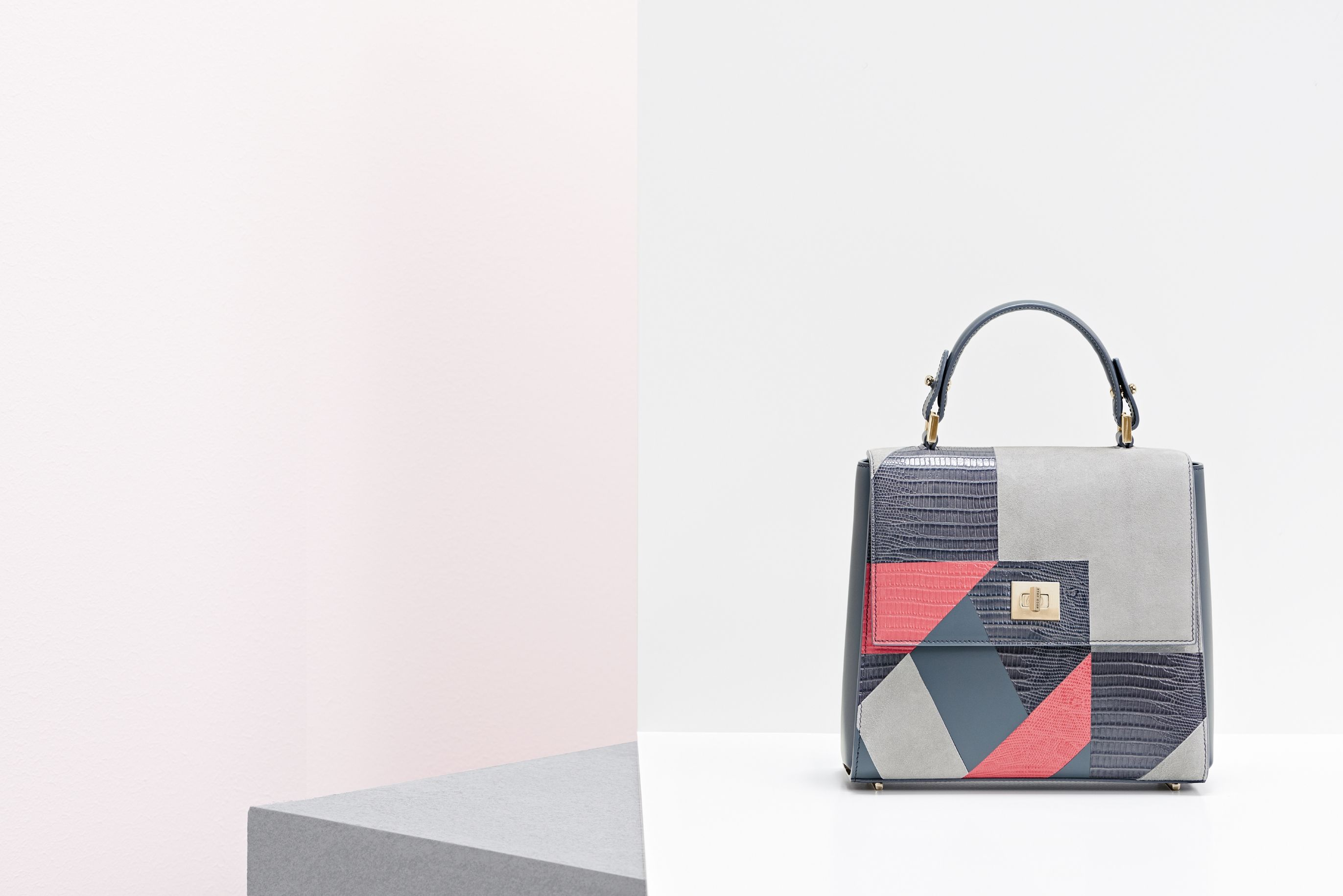 The BOSS Bespoke in a new patchwork design, from the BOSS Womenswear pre-Fall 2016 collection
