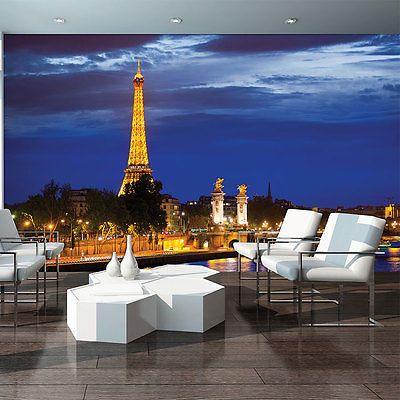 Poster Tapeten Fototapete Wandbild Tapeten Paris Stadt Blick Bau